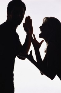 relationship-conflict silouette